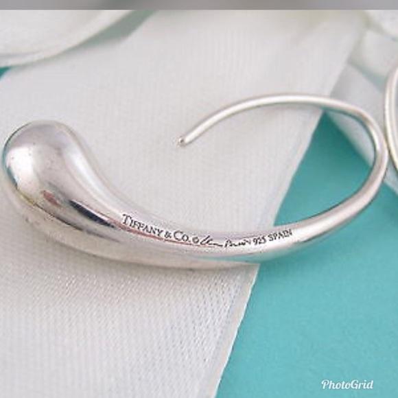 18dd17c1b622f Tiffany & Co Elsa Peretti Silver Teardrop Earrings